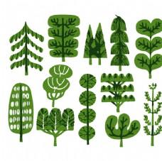 植物涂鸦素材