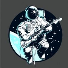太空人弹吉他