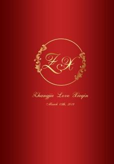 红金色婚礼主题海报