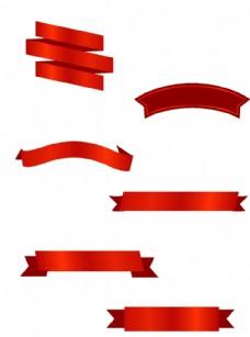 各种 飘带 素材 中国风 矢量