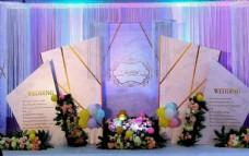 大理石纹婚礼展板