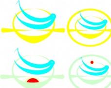 海燕飘洋过海矢量标志