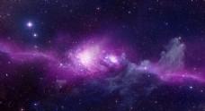 星空背景 宇宙 紫色 星光迷雾