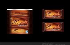 食品巧克力外包装设计图效果设计