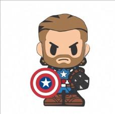 美国队长 卡通  Q版