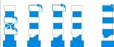 蓝色造型柱