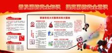 企业消防安全知识宣传栏党建展板