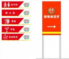 餐厅标示指示牌标牌