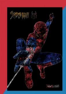 蜘蛛侠人物文字海报设计