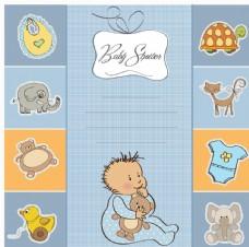 卡通婴儿动物玩具