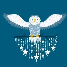 猫头鹰卡通星星