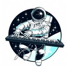 宇航员钢琴