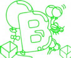 字母图片b