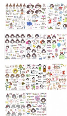 韩国可爱贴纸小素材
