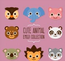 8款可爱动物头像设计