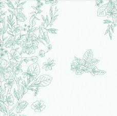 手绘天然茶叶元素底纹图案背景