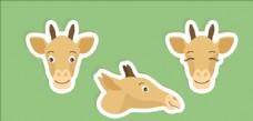 矢量长颈鹿集合