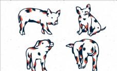 矢量小猪集合
