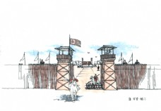 唐朝军营大门