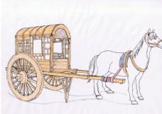 马车高清手绘