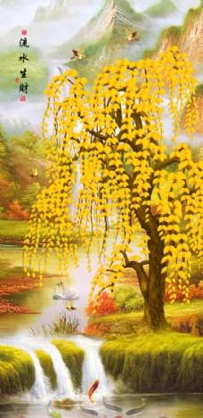 中国风发财树装饰画