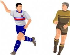 足球体育运动人物