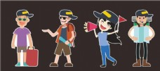 旅游人物插画