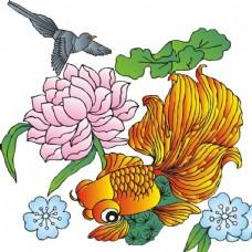 金鱼  荷花