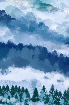 水彩纹理时尚海报背景