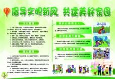 创建卫生城市和谐社区宣传栏展板