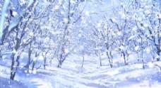 LED雪景背景视频
