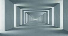 立体长方形空间背景