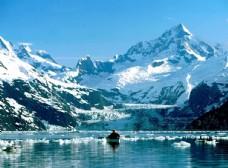 壮观的冰川雪山风景