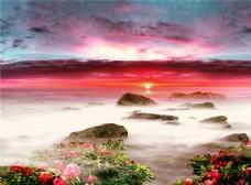 精选晚霞渲染天空仙境般的风景