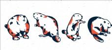 矢量海狸集合