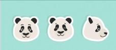 矢量熊猫集合