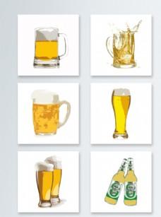 啤酒元素素材青岛燕京雪花啤酒图