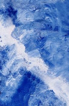 藍色水彩油畫紋理廣告海報背景圖
