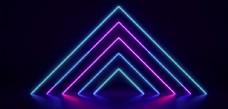 大氣簡約時尚促銷霓虹燈海報背景