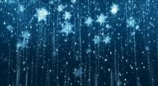 雪花飘落唯美