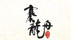 端午赛龙舟水墨字体