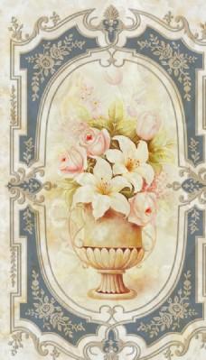 欧式复古花瓶玄关