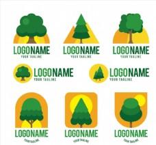 创意绿色树木标志