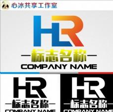 HR字母LOGO