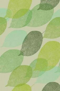 树叶印花图案