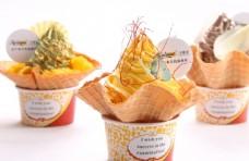 芒果花篮子冰淇淋