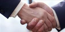 握手 中年男性 人 成功 交易