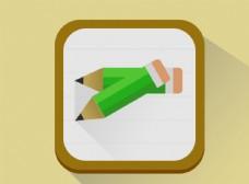 UI界面设计  扁平化 便签