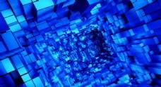 蓝色几何方块