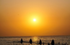 日落的大海